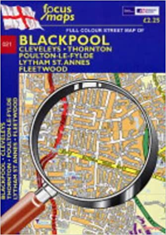 Full Colour Street Map of Blackpool: Cleveleys - Thornton