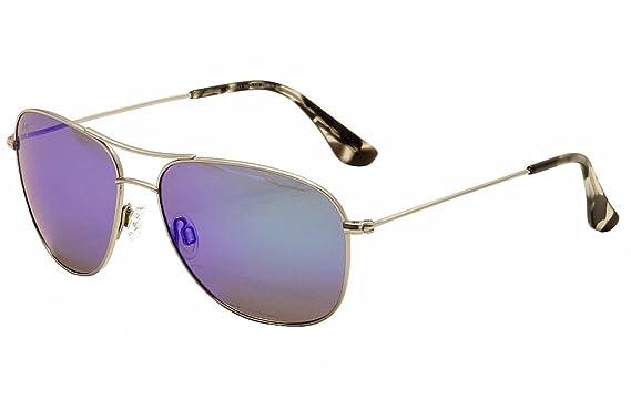 Maui Jim Cliff House Sonnenbrille Silber B247 Polarisiert 59mm 68rez