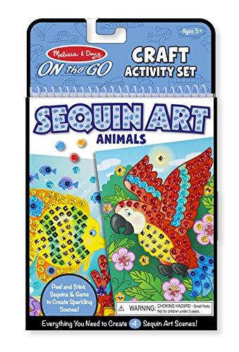 Melissa & Doug On-The-Go Crafts Animals Sequin Art