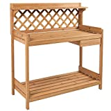 Garden Potting Bench Planting Outdoor Work Bench Station Wood With Ebook