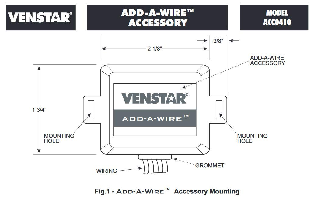 Venstar ACC0410 Add-A-Wire Accessory for All 24 VAC Thermostats (4 on 4 wire switch diagram, 4 wire alternator diagram, 4 wire solenoid diagram, 4 wire voltage regulator diagram, 4 wire lamp diagram, 4 wire ignition diagram, 4 wire furnace diagram, 4 wire sensor diagram, 4 wire fan diagram, 4 wire relay diagram, 4 wire motor diagram, 4 wire timer diagram, 4 wire thermometer diagram, 4 wire actuator diagram, 4 wire thermocouple diagram, 4 wire zone valve diagram,