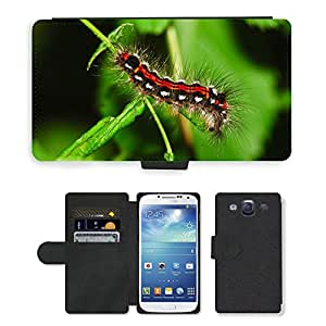 PU LEATHER case coque housse smartphone Flip bag Cover protection // M00114082 Oruga verde Animal Cabello // Samsung Galaxy S3 S III SIII i9300