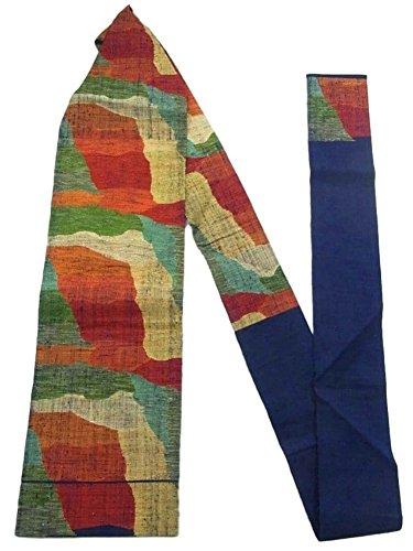 アソシエイトヒステリック勉強するリサイクル 名古屋帯 紬 八寸 抽象模様 正絹