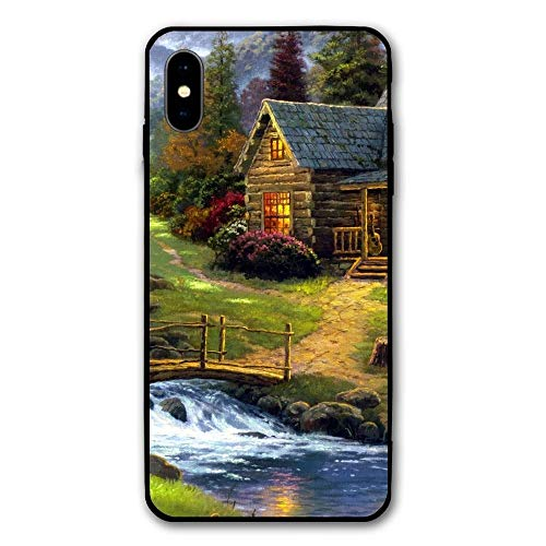 iPhone X Case iPhone 10 Case Elks Livingg in Village of Dorset Anti Scratch and Shock Proof Cell Phone Shell Suitable for 5.8 (Best Villages In Dorset)