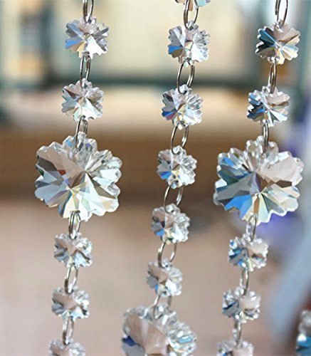yueton Pendant Snowflake Faceted Chandelier