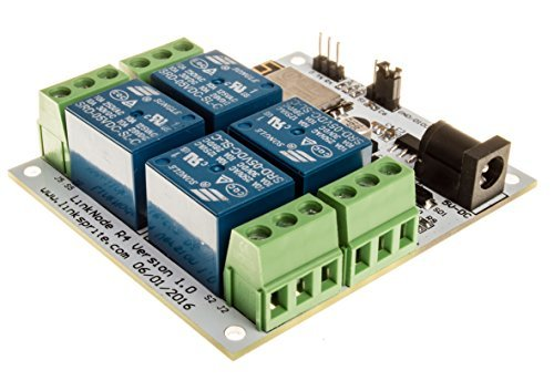 LinkNode R4: WiFi relay controller 4-Channel Relay Module LinkSprite 211201004