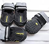 Uarter Dog Boots Waterproof Dog Shoes for Large Dogs and Black Labrador Waterproof 4 Pcs in Size 3 Black