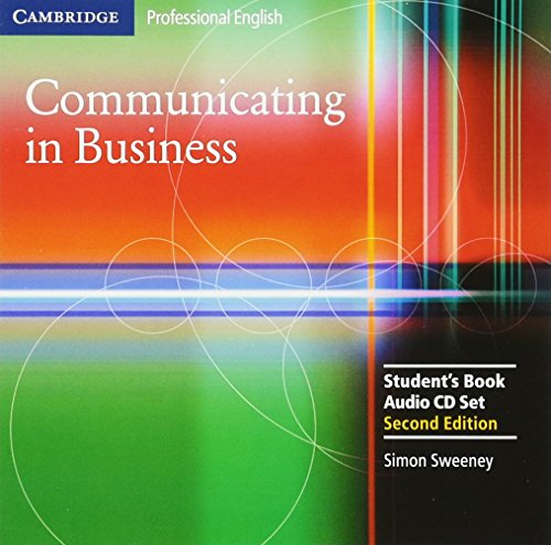 Communicating in Business: Student Audio CD Set (Cambridge Professional English) by Brand: Cambridge University Press