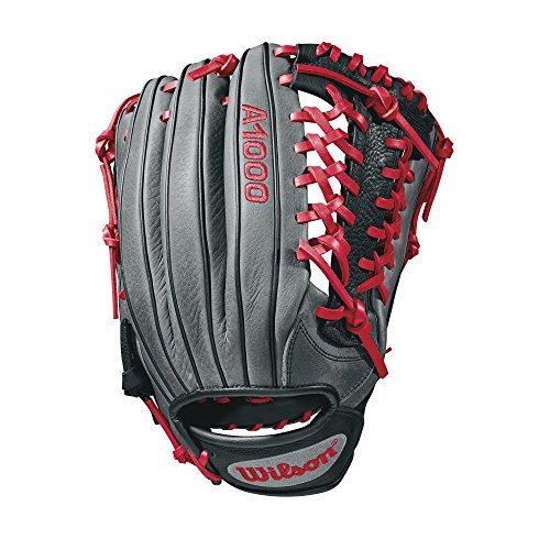 Wilson 2018 A1000 kp92 Gloves - Right Hand Throw Black/Gray/Red, (A2k Pro Stock)