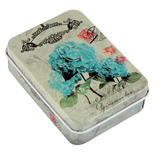 Vintage Matches - Matches Strike Almost Anywhere In Vintage Style Tin Container Steve Kaeser since 1989 (Blue Flower)