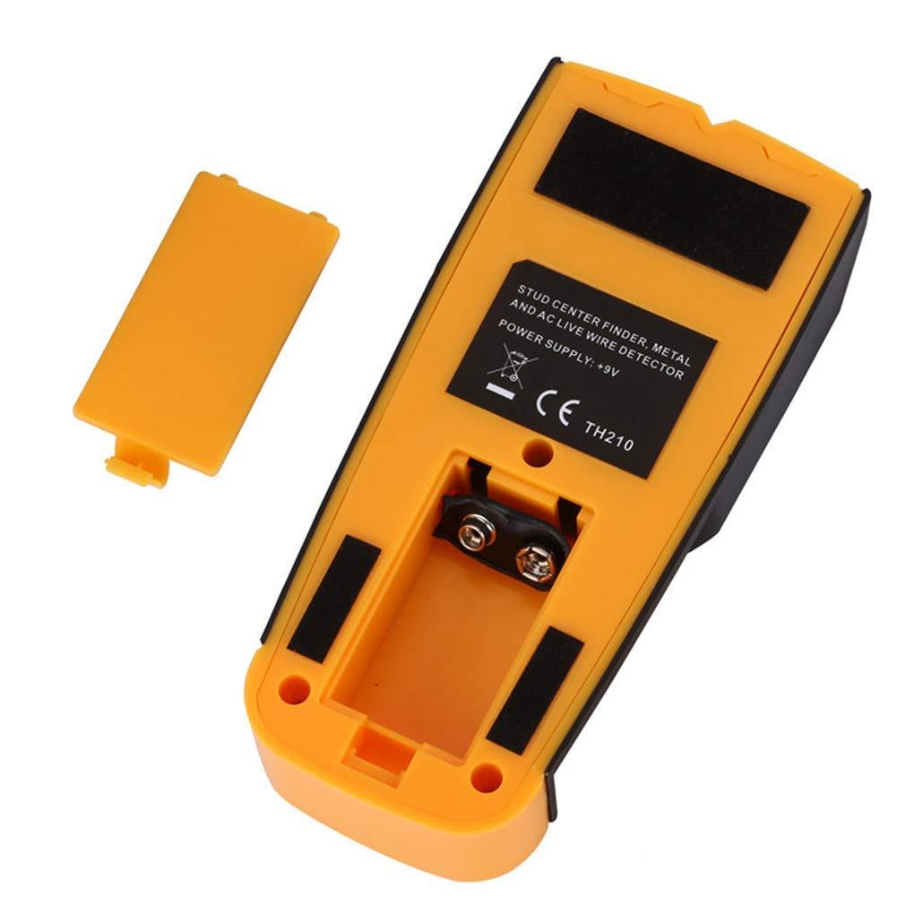 PUAO Buscador de Pernos de Pared con función de Detector de Pared con Pantalla LCD Digital, Sensor de Enganche de Centro, botón de Metal y Cable de CA en ...