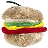 Aspen Pet Booda Softbite Hamburger Plush Medium Dog Toy, My Pet Supplies