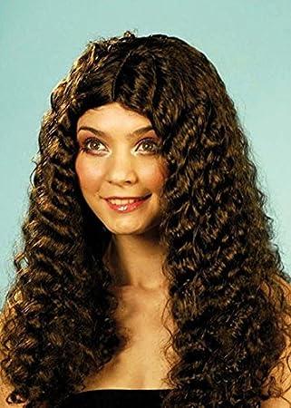 Bellatrix LeStrange estilo marrón peluca rizada