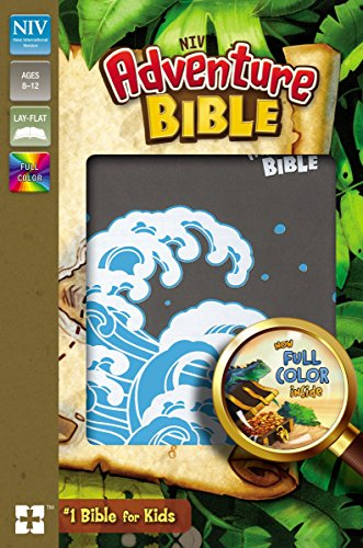 NIV Adventure Bible, Imitation Leather, Gray, Full Color Interior