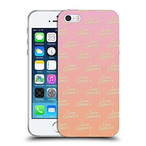 Official Cosmopolitan Love Cosmo Pattern Pastels Soft Gel Case for Apple iPhone 5 / 5s / SE