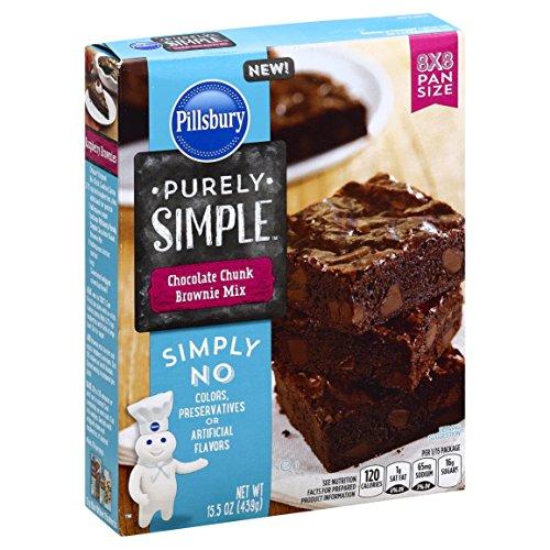 Chocolate Chunk Brownie - Pillsbury Purely Simple Chocolate Chunk Brownie Mix, 15.5 Ounce