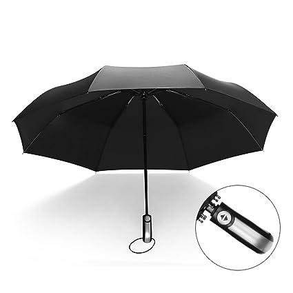 A Doble paraguas completo paraguas grande paraguas plegable hombres paraguas de negocios