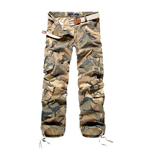 Multi Militari Misschild Tasche senza Calzoni Uomo Cargo Lavoro Da Uomo Cintura Pantalone Con Mimetici Camuffare02 Lungo Pantaloni wgBz0
