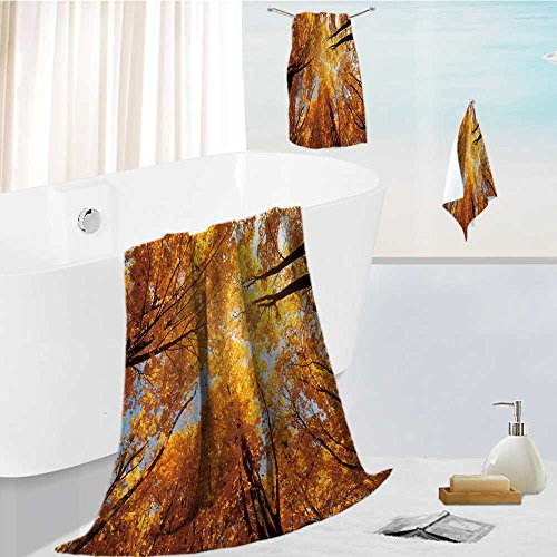 aolankaili Beach Towels Set Colorful Tree Branches in Sunny