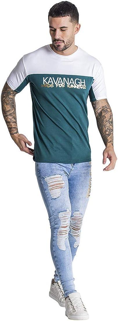 Gianni Kavanagh Dark Green Street Art tee Camiseta Hombre