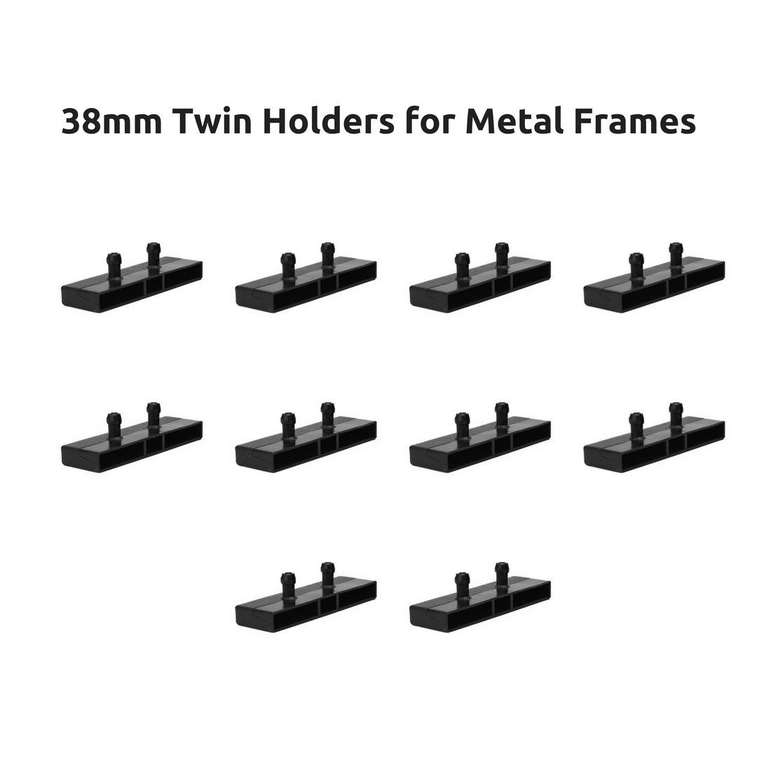 38mm Twin Plastique Lit inférieure Supports caches Fixations pour cadres de lit en métal (lot de 10)