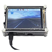 3.5 inch 480x320 raspberry pi touchscreen lcd display with case for raspberry 2 3