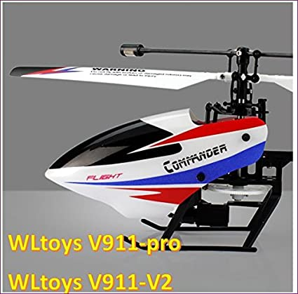 meer foto's specifiek aanbod enorme korting Amazon.com: WLtoys V911-pro V911-V2 2.4G 4CH RC Helicopter ...
