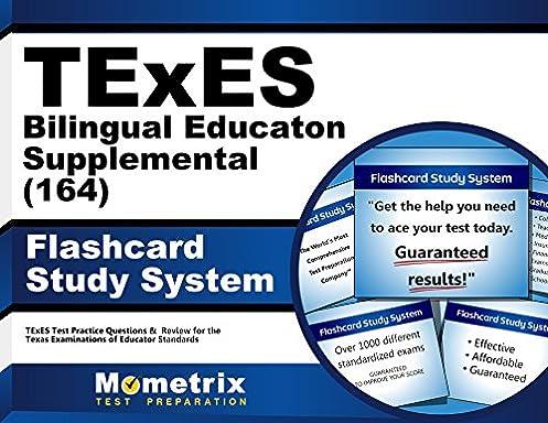 texes bilingual education supplemental 164 flashcard study system rh amazon com