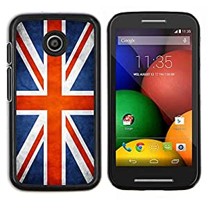 LECELL--Funda protectora / Cubierta / Piel For Motorola Moto E -- Nación Bandera Nacional País Gran Bretaña Reino Unido --