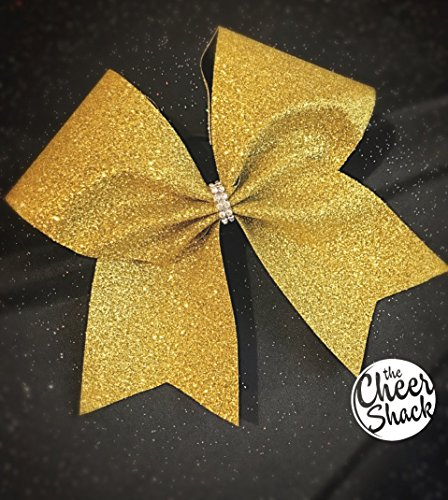 Gold Glitter Cheer Bow, Cheer Bow - Image 1