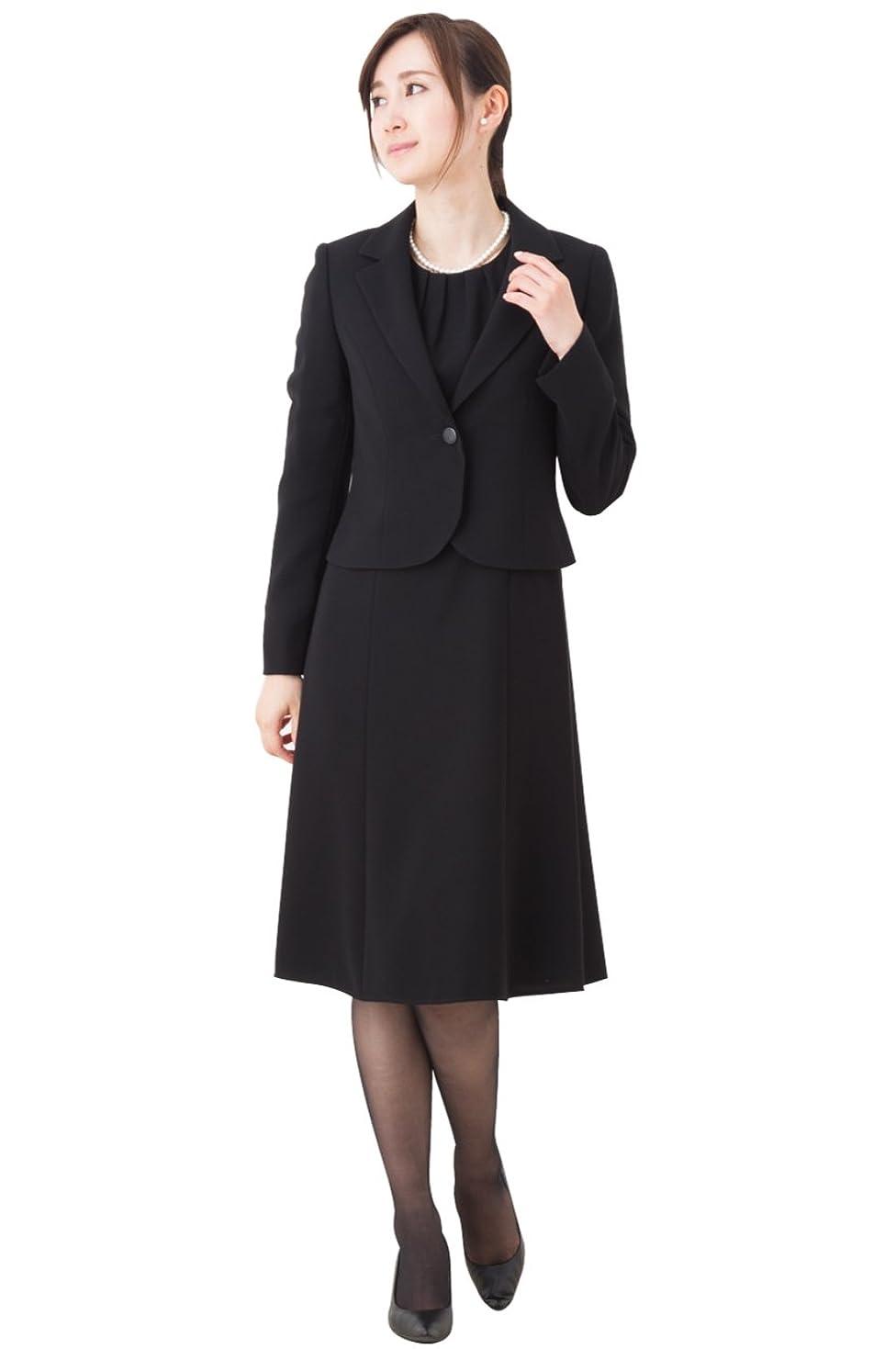 アプローチ転用枯れる(マーガレット)marguerite m463 464 ブラックフォーマル 喪服 礼服 ジャケット共通 2デザインワンピース レディース アンサンブル
