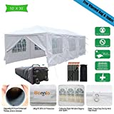 VINGLI Bonnlo 10′ x 30′ Heavy Duty Canopy Wedding Party Tent with 8 Removable Sidewalls,Upgraded Steady Sunshade Winter Snow Shelter Outdoor Carport Event Gazebo Pavilion,w/ Carrying Bag For Sale