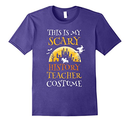 [Mens Scary History Teacher Costume Halloween T-Shirt Funny 3XL Purple] (Biology Halloween Costume Ideas)