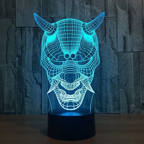 Lámpara 3d wangZJ/luz de noche 3d fantasma de halloween para niños/lámpara de mesa Led de ilusión óptica / 7 colores cambiantes/navidad regalo de Halloween/táctil: Amazon.es: Iluminación