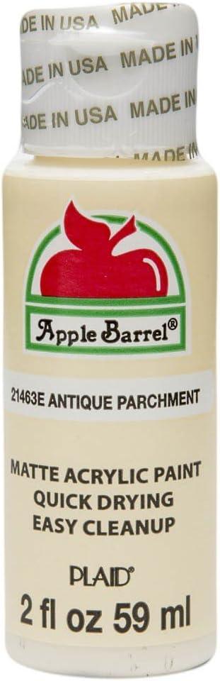 Apple Barrel Acrylic Paint in Assorted Colors (2 oz), 21463, Antique Parchment