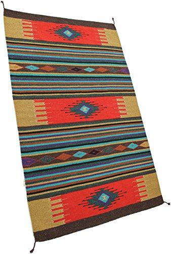 Onyx Arrow Southwest Décor Area Rug, 4 Foot x 6 Foot, Diamond Dust Red/Multi Stripes