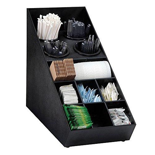 Dispense-Rite SWCH-1BT Countertop Flatware and Condiment Organizer