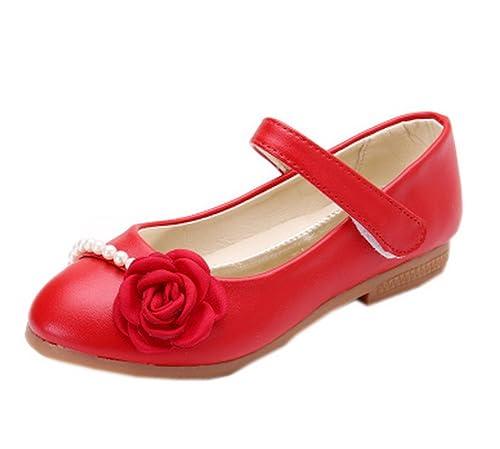 24e8d0d3b Vokamara Niña Ceremonia Zapatos Flores Merceditas Ballerine para Fiesta  Colegiales  Amazon.es  Zapatos y complementos