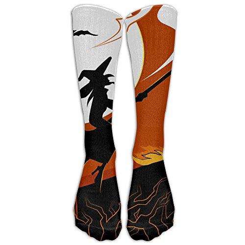 Halloween Unisex Knee High Athletic Soccer Tube Sock, Over The Calf Athletic (Funny Halloween Gifs)