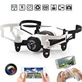 RC Helicopter With Camera - Mini WIFI FPV Drone Quadcopter with Altitude Hold Mode,kingtoys JXD 512DW Nano RC Helicopter Drones with HD Camera Headless Mode RFT Pocket Aircraft (Black)