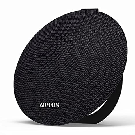 AOMAIS Ball Bluetooth Speakers, Wireless Portable Bluetooth 4.2 , 15W Superior Sound DSP, Stereo Pairing Surround Sound, Waterproof Rating IPX5, Built in Rechargeable Battery&Mic(Black) JWH