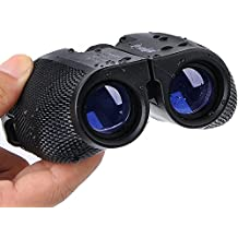 Folding Binoculars for Bird Watching 10x25 High Powered Magnification Compact Binoculars for Adults Kids Outdoor Shooting,Hunting,Astronomy,Sports and Concerts