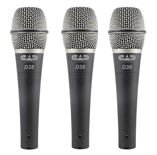 CAD Audio CADLive D38 Supercardioid Dynamic Microphone, 3-Pack