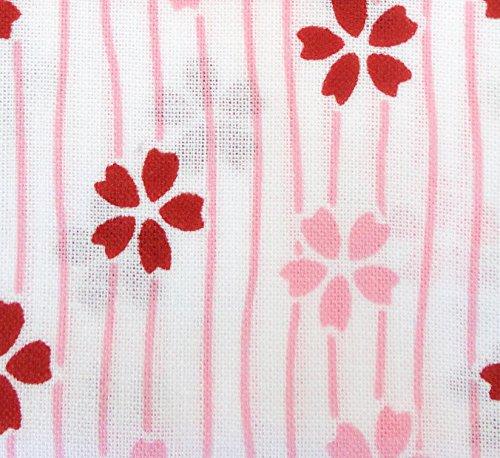 Japanese Traditional Towel Tenugui Small PatternStripe-cherry-blossom by Miyamoto Izumi-koubai