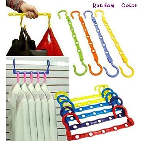 Ganchos para colgar toallas, colores auténticos aleatorios, para ahorrar espacio en el