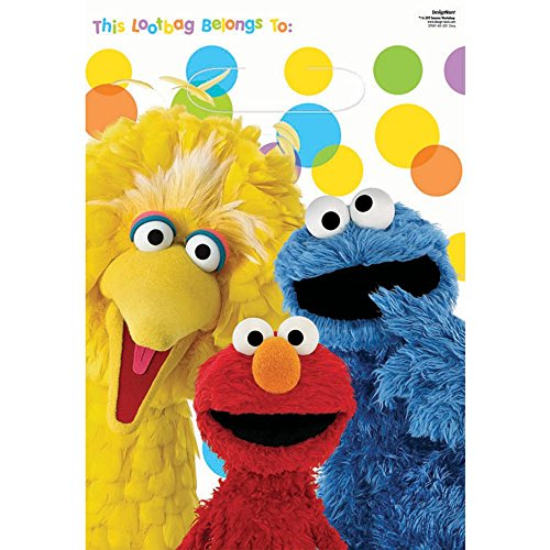 Amscan Unisex Adult Sesame Street Party Treat Bags Black Medium (Costume Party Ideas For Adults)