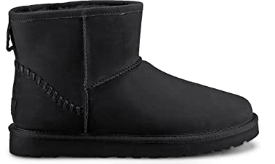 UGG Mens Classic Mini Deco Boot Black Size 8