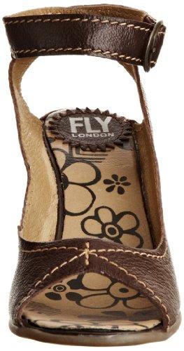 FLY London Dexi - Sandalias fashion de cuero para mujer Marrón