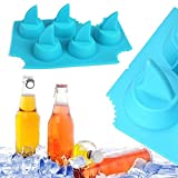 3 X Pack Shark Fin Ice Cube Chocolate Soap Tray Mold Silicone Party Maker (SHIPS FROM USA)