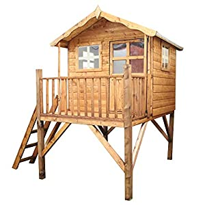 WALTONS-EST-1878-7x5-Wooden-Garden-Tower-Playhouse-for-kids-Shiplap-Construction-dip-treated-with-10-Year-Anti-Rot-Guarantee-Includes-Apex-Roof-Felt-and-Floor-Safety-Styrene-Windows-7-x-5-7Ft-x-5Ft